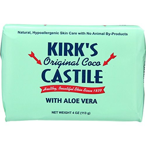 Aloe Castile Soap - Kirks Natural Bar Soap - Coco Castile - Aloe Vera - 4 oz - (Pack of 3)