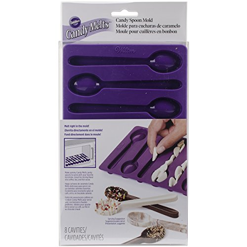 Wilton 2115-0229 Spoon-Shaped Silicone Candy Mold, Purple (Mold Spoon)