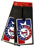 MLB Texas Rangers Two Pack Soft Laser Bag Tag