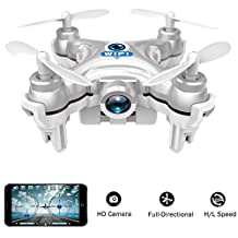 wifi controlled mini quadcopter, Volarvin® - super micro nano quadcopter rc drone with camera 2.4g 4 channel 3d gyro 6 axis with 360 stunt spin flips (only 6cm x 6cm x 2cm) in silver