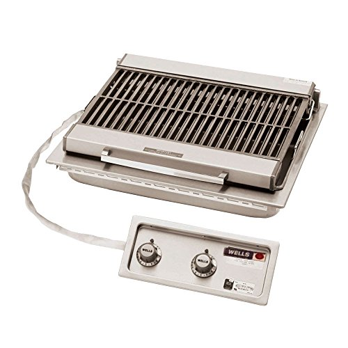 - Wells B-406 Charbroiler built-in electric cast iron grate 25