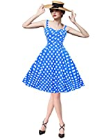 Maggie Tang Women's 1950s Vintage Rockabilly Full Circle Swing Party Dress