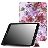 MoKo Samsung Galaxy Tab S2 9.7 Case - Ultra Slim Lightweight Smart-shell Stand Cover Case for Samsung Galaxy Tab S2 9.7 Android 5.0 2015 Version, Floral PURPLE
