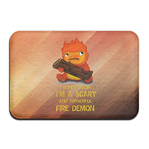 [YFF Studio Ghibli Howl's Moving Castle Calcifer Home Furnishing Kitchen NonSlip Rug 23.6Lx15.7W] (Donald Duck Costume Makeup)