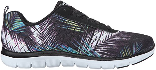 Skechers Flex Appeal 2.0-Tropical Bree, Scarpe Sportive Outdoor Donna Nero (Black/Multi)