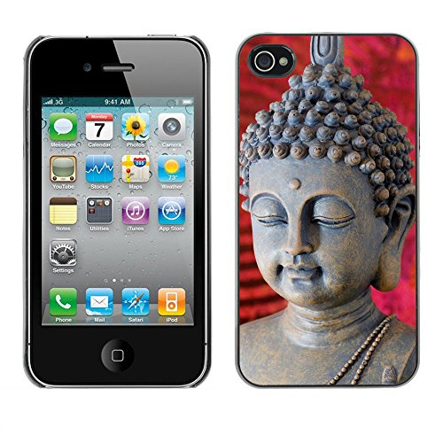 Premio Sottile Slim Cassa Custodia Case Cover Shell // V00001643 Bouddha // Apple iPhone 4 4S 4G