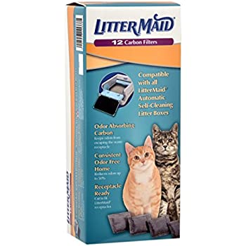 Littermaid Odor Absorbing Litter Box Carbon Filters 12 Pack