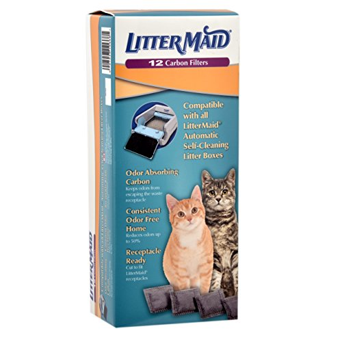 rbing Litter Box Carbon Filters, 12 pack ()