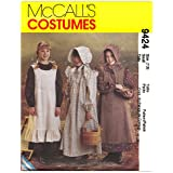 McCall's Patterns M9424 Girls' Pioneer Costumes, Size SML