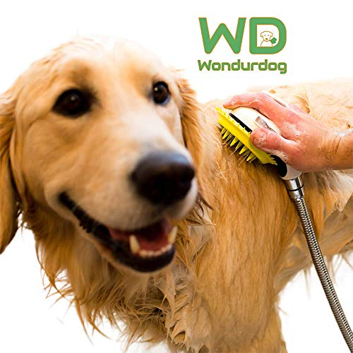 Wondurdog Quality at Home Dog Wash Kit for Indoor Shower | Water Sprayer Brush & Rubber Shield | Wash Your Pet and Don't…