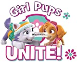 nick unite - 6 Inch Everest Skye Paw Patrol Girl Pup Wall Decal Sticker Pups Puppy Puppies Dog Dogs Removable Peel Self Stick Adhesive Vinyl Decorative Art Kids Room Home Decor Children 6 1/2 x 5 1/2 inches
