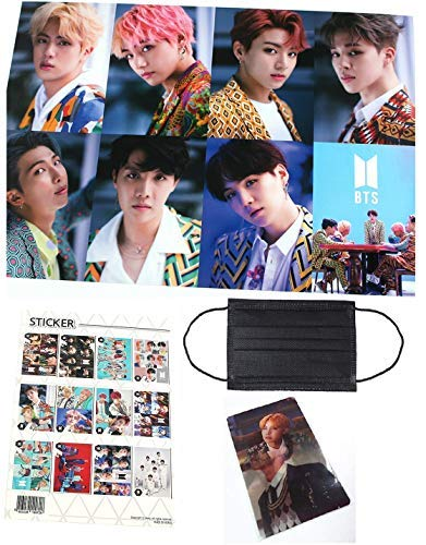 BTS Bangtan Boys - 12 PHOTO POSTERS(16 5 x 11 7 inches) + 1 STICKER + 5  Photos(4 x 3 inches)