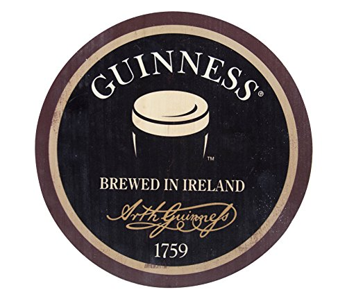 Guinness Wooden Bottle Top Bar Sign Wall Art (Distressed)