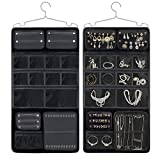 Keproch Jewelry Accessories Closet Hanging Storage Organizer with 16 Transparent Pocket Holders