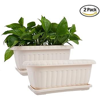 Amazon Com H Potter Window Box Rectangular Succulent