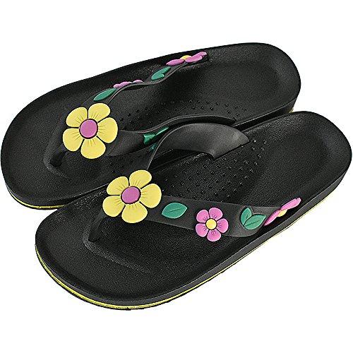 ONCAI Flip Flop For Women Beach Sandlas Slipper Flower Parttern Hawaii Style (Flower Flip Flop Sandals)