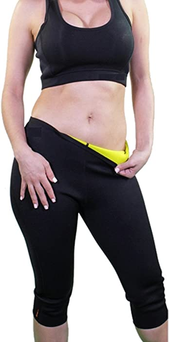 dd49ec31a1731 Hot Thermo Slimming Pants Neoprene Sweat Sauna Body Shapers for Womens   Amazon.co.uk  Clothing