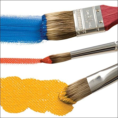 Creative Mark Vermeer Classic Mongoose Paint Brush - Short Handle Brush for Watercolor, Gouache, and Acrylic Lacquered Wood Handles - [Filbert 44]