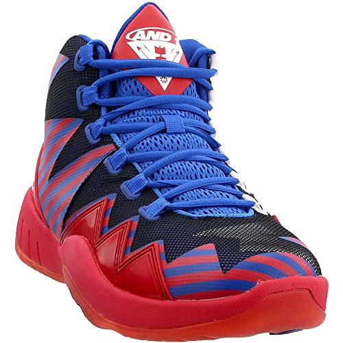 AND1 Mens Boom Basketball Casual Shoes, Red, 9.5