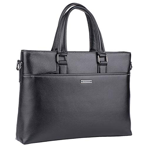 - Banuce Genuine Leather Briefcase for Men Women Shoulder Messenger Bag Executive Bussiness Tote Laptop Bag