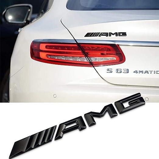 Ricoy New Style 3d Für Amg Emblem Abs Trunk Logo Abzeichen Dekoration Geschenk Aufkleber Schwarz Auto