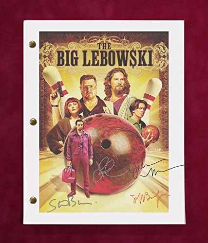 "THE BIG LEBOWSKI MOVIE SCRIPT W/ REPRODUCTION SIGNATURES BRIDGES, GOODMAN ""C3"""