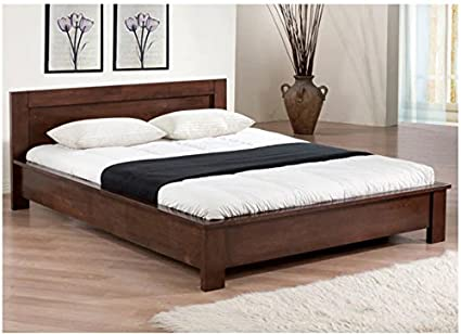 Amazon.com: Low Profile Full Size Bed Frame Wooden Platform ...