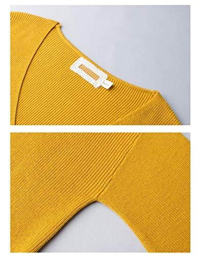 Alta Alta Alta Eleganti Autunno V Maglie Lunga Neck Neck Neck qualità Puro Maglioni Outwear Betrothales Sciolto Colore Donna Fashion Jumper B Maglioni Manica Hot Pullover Invernali di Termico Maglia A xZYqSx6H