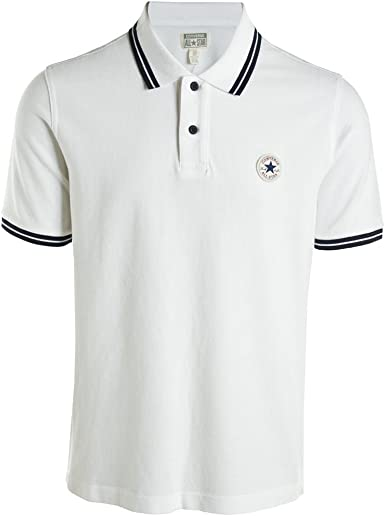 Converse Polo Uomo Bianco X Large: Amazon.it: Abbigliamento
