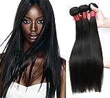 Cheap NICE QUEEN Brazilian Straight Human Hair 3 Bundles 8A Virgin Remy Human Hair Extensions Hair Human Bundles Weave Products(Straight,18 20 22 Inch)