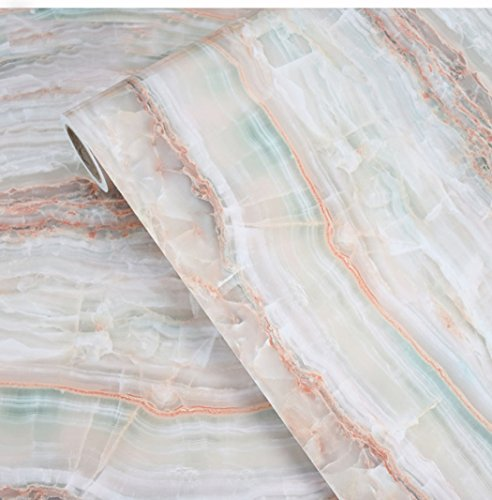Waterproof Marble Granite Look Contact Paper Kitchen CounterTop Backsplash Table Self Adhesive Film Vinyl Shelf Liner 24 by 196 Inches
