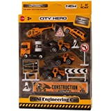 IGP Diecast Mini Engineering Construction Toy Vehicle Playset for Kids 1:87 Scale 14Pcs