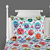 Emoji Bed in a Bag Twin Idea Nuova Emoji Chevron Bed in A Bag, Twin XL, Multi