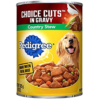 PEDIGREE CHOICE CUTS in Gravy Adult Canned Wet Dog Food Country Stew, (12) 22 oz. Cans