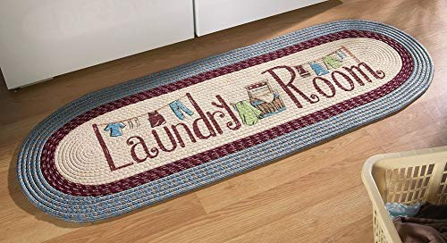 "Collections Etc 20""x48"" Braided Laundry Room Floor Runner Ru"