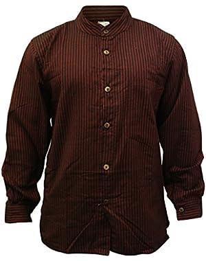 Mens Stripe Hippie Grandad Shirt
