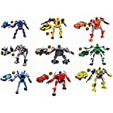 Xipoo Transformers Building Blocks, 9 Robots and Vehicles Play Set, 737 Pieces, 6 Years and Up
