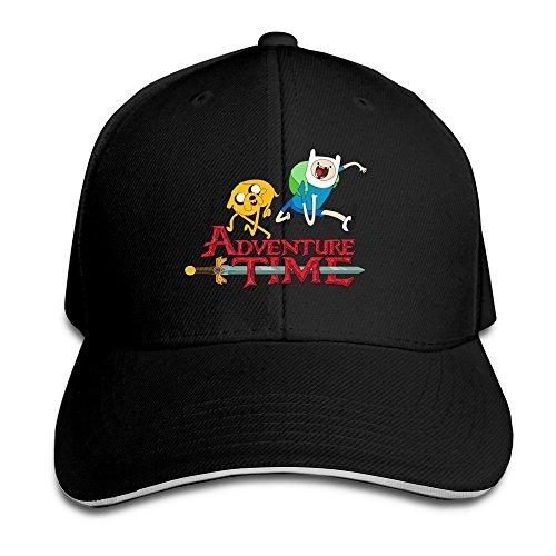 Unisex Adventure Time Logo Baseball Cap Black