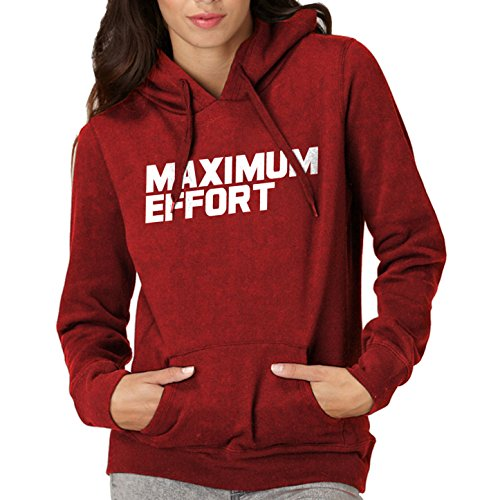hoodie-maximum-effort-adult-red-x-large