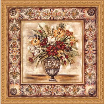 1c7ee40170a Image Unavailable. Image not available for. Color  Framed Floral Tapestry  II- 24x24 Inches - Art Print (Ornate Gold Frame)