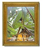 Set of 6 - 8x10 Ornate Heritage Gold Photo Frames with Easel Back and Clear Glass