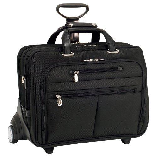 McKleinUSA OHARE 76535 Black Nylon Fly-Through(TM) Checkpoint-Friendly 17 Detachable Wheeled Laptop Case by McKleinUSA