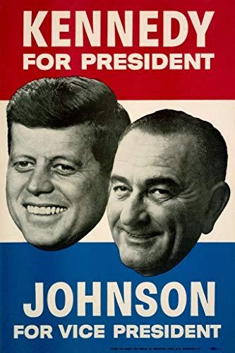 John F Kennedy Lyndon Johnson 1960 Campaign Mural Giant Poster 36x54 -