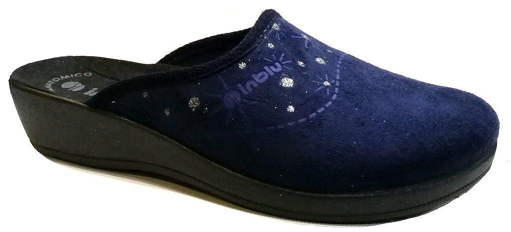 Inblu pantofole ciabatte invernali da donna art. CL-72 BLU -