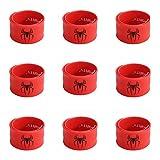 Ecparty Superhero Slap Bracelet for Kids Boys & Girls Birthday Party Supplies Favors (9 pack) (Spider Man)