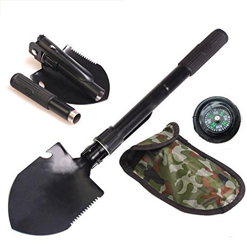 ArmyGreen-Mini-folding-foldable-survival-shovel-spade-trowel-with-pick-for-camping-garden