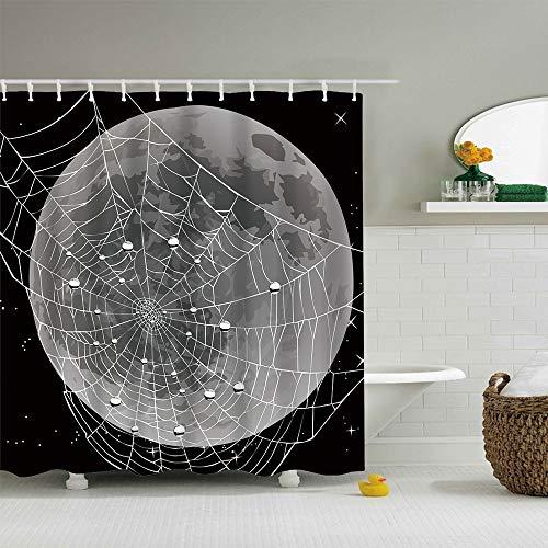 ColorPapa Modern Decorative Shower Curtain The Cartoon Spider