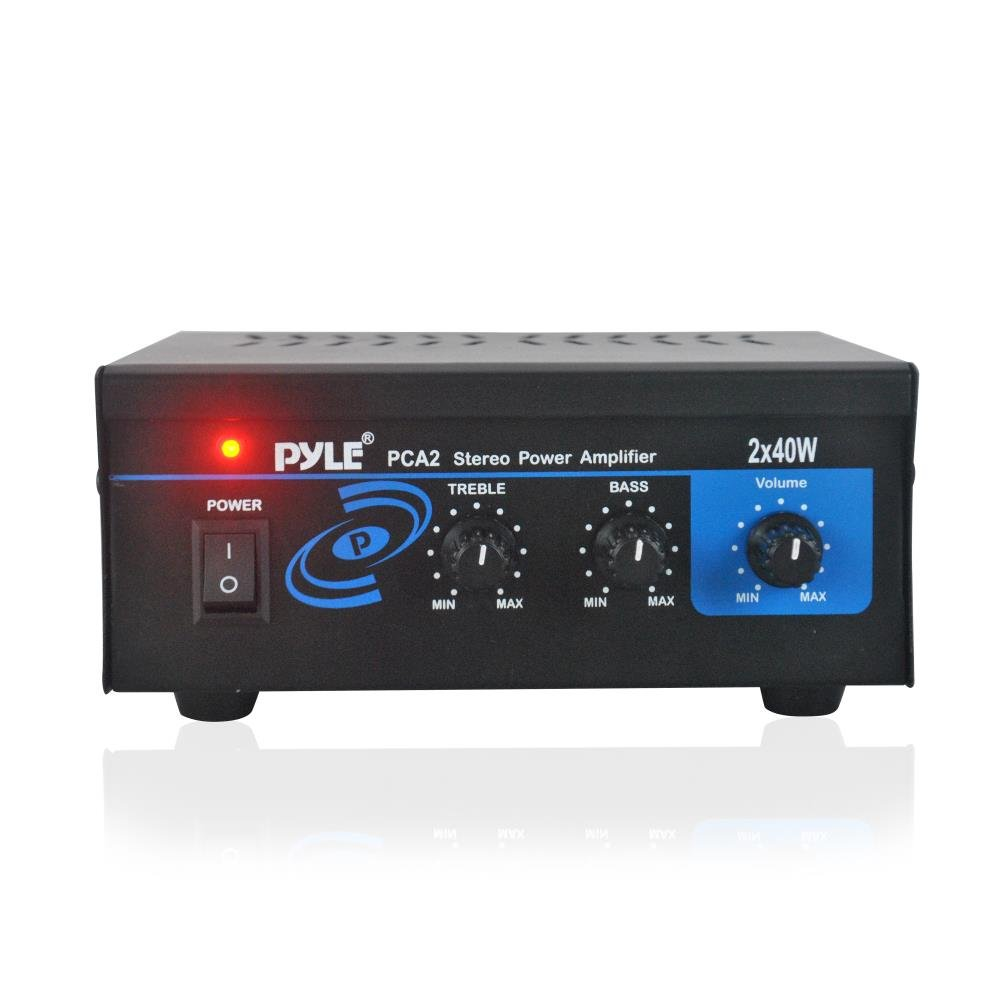 Phone service for home small business amp - Amazon Com Pyle Home Pca2 2x40 Watt Stereo Mini Power Amplifier Home Audio Theater