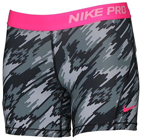 Nike Girl's Dri-Fit Training Pro Cool Compression Short 903746-012 Grey Camo (XL)