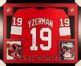 Steve Yzerman Signed Red Wings 35x43 Custom Framed Jersey (Yzerman Hologram)